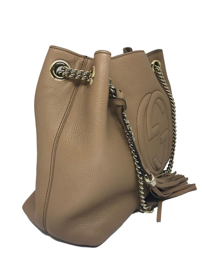 Bolsa Gucci Soho Bege Chain