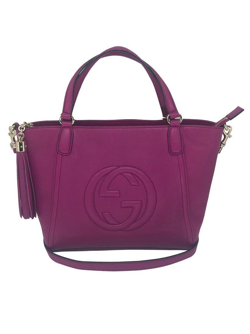 c286c1018 Bolsa Gucci Soho Pink - VENDIDA - Paula Frank | Bolsas de luxo ...