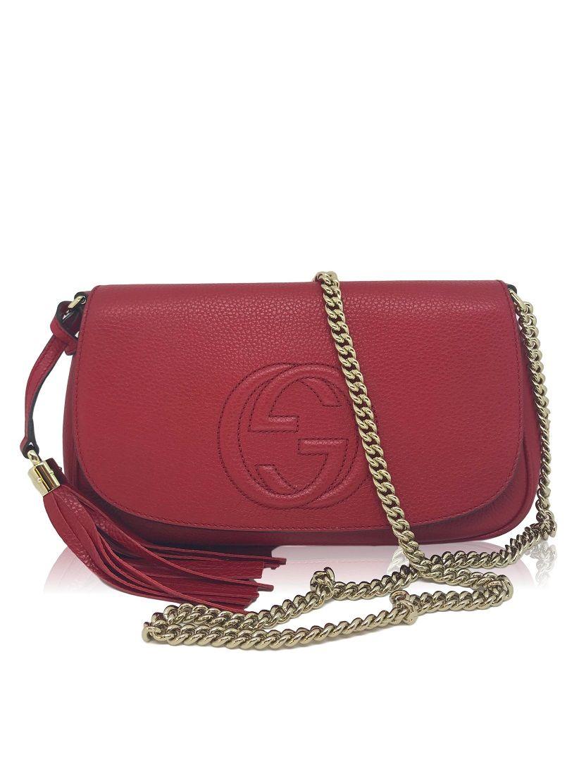 8a49da5a4 Bolsa Gucci Soho Vermelha - Paula Frank | Bolsas de luxo originais ...