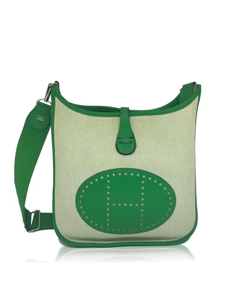 b648ba164 Bolsa Hermès Evelyne Verde - Paula Frank | Bolsas de luxo originais ...