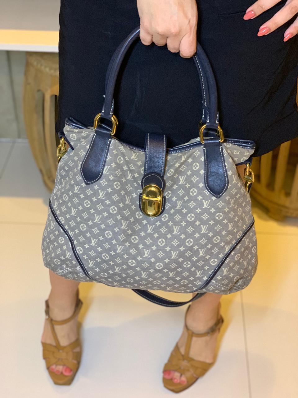 Bolsa Louis Vuitton Monograma Tecido azul