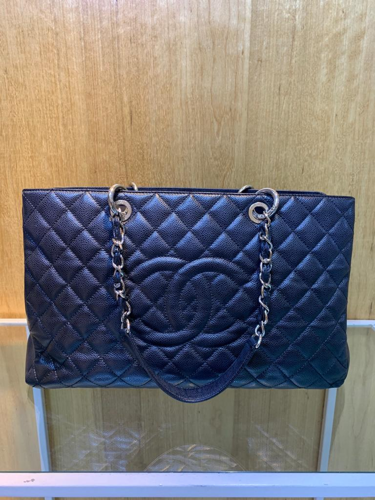Bolsa Maxi Chanel Shopper Preta