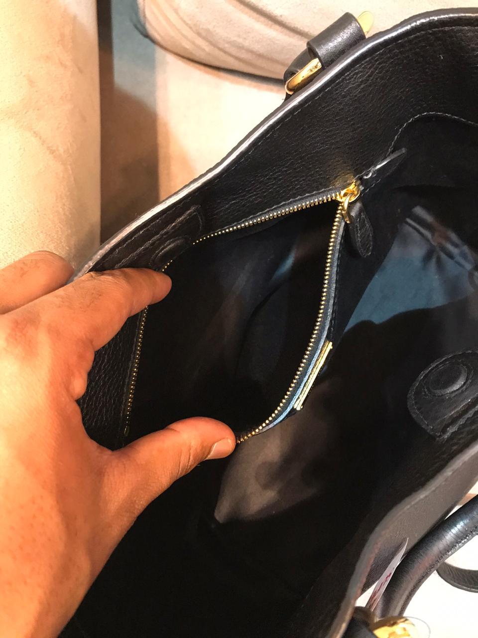 Bolsa Miu Miu Azul Preta