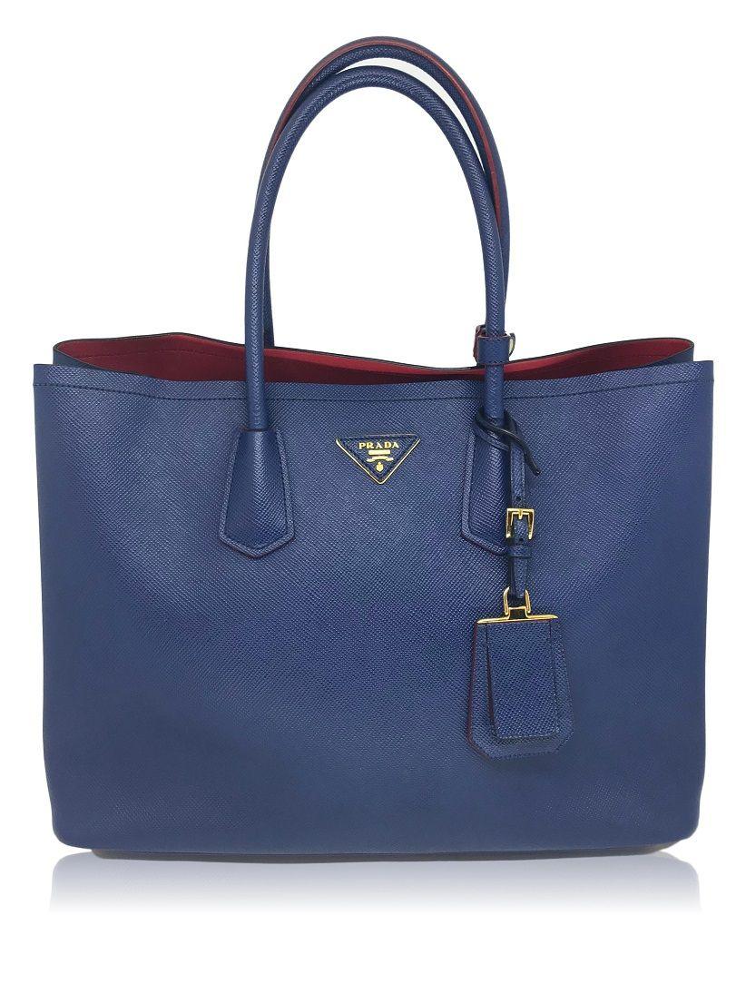 Bolsa Prada Azul Royal Saffiano