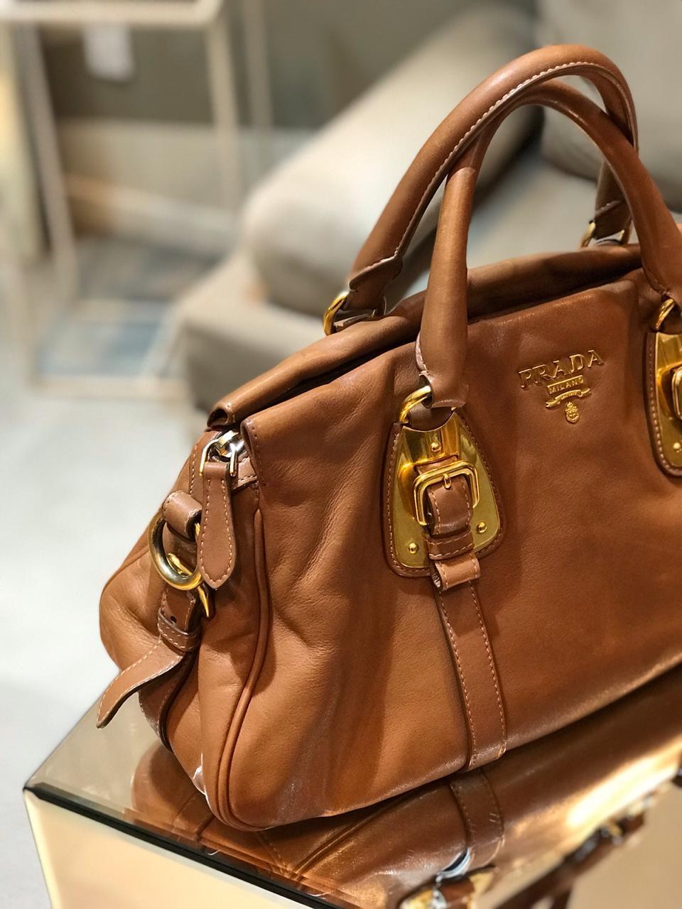844f62286 Bolsa Prada Caramelo - Paula Frank | Bolsas de luxo originais, novas ...