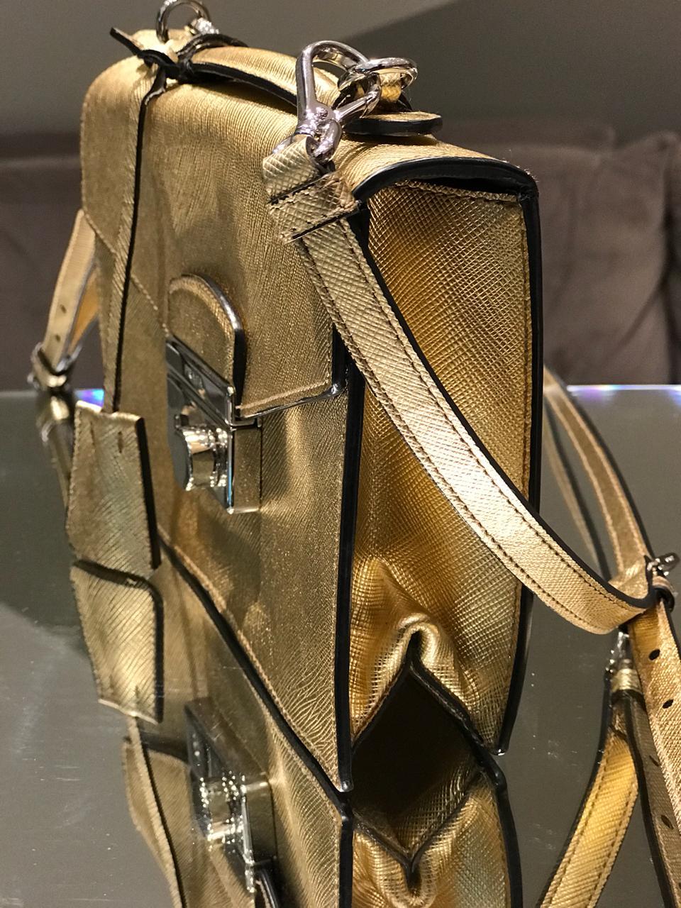 Bolsa Prada Dourada Mini Bag