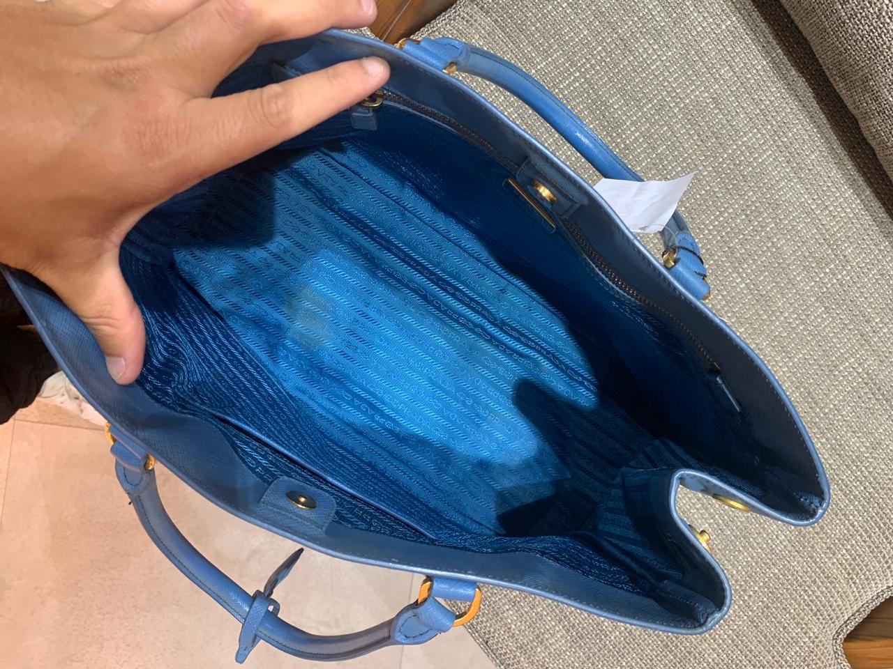 Bolsa Prada Saffiano azul