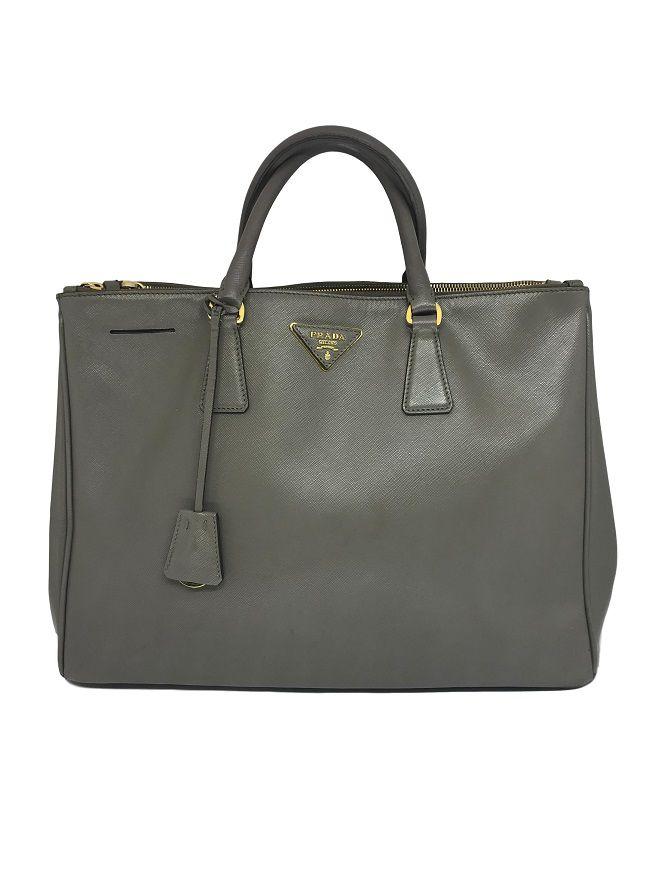 982e35f4d Bolsa Prada Saffiano Galleria Cinza - Paula Frank   Bolsas de luxo ...