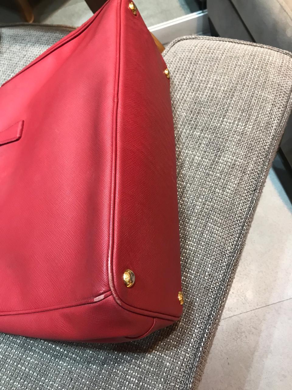 Bolsa Prada Saffiano Vermelha