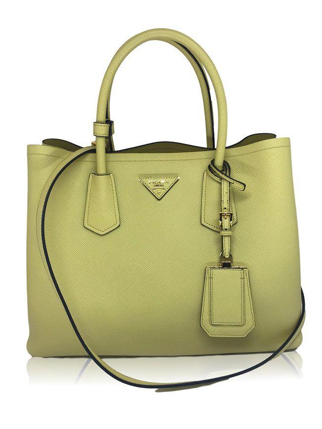 880b523a7 Bolsa Prada Saffiano Yellow - Paula Frank   Bolsas de luxo originais ...