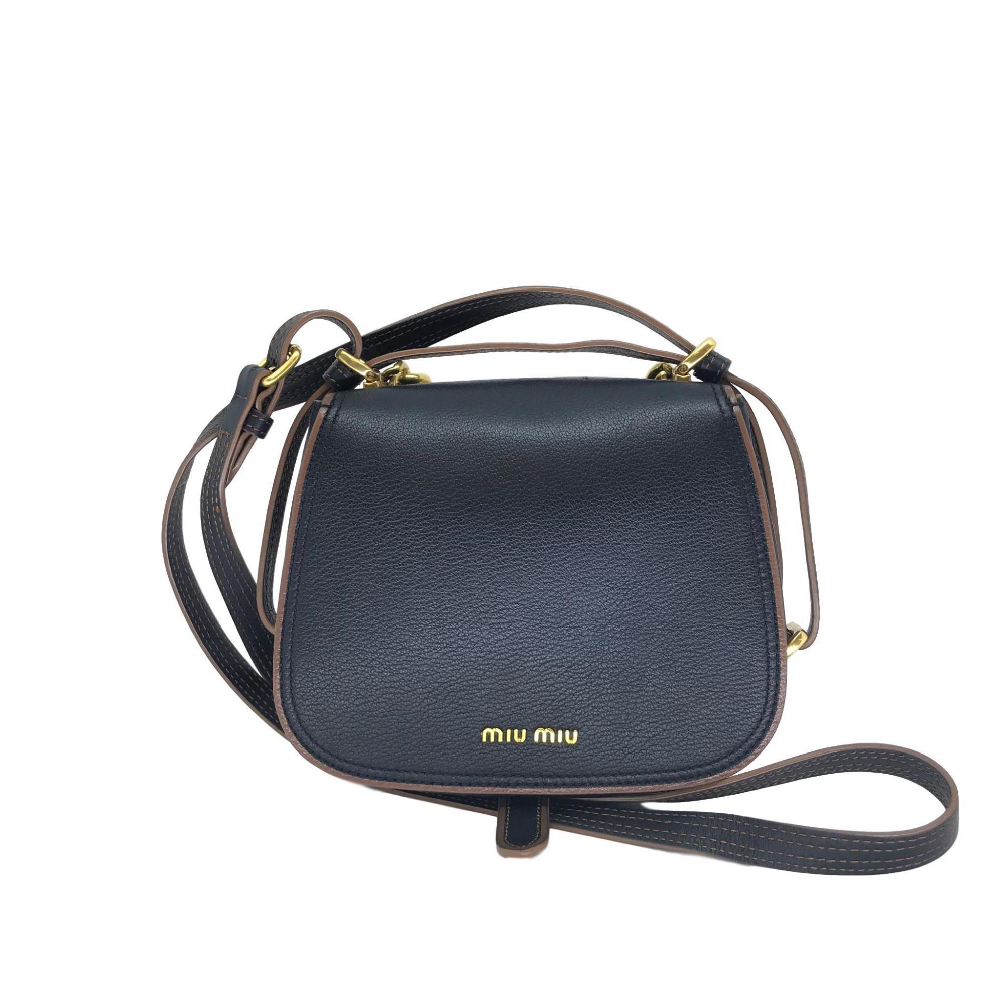 1221d844d Bolsa Preta MiuMiu Couro - Paula Frank | Bolsas de luxo originais ...