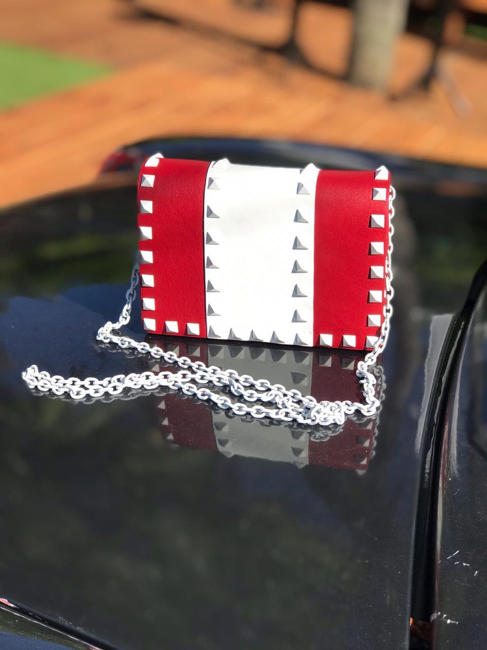 Bolsa Valentino Chain White