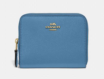 Carteira Small Zip Coach -Azul