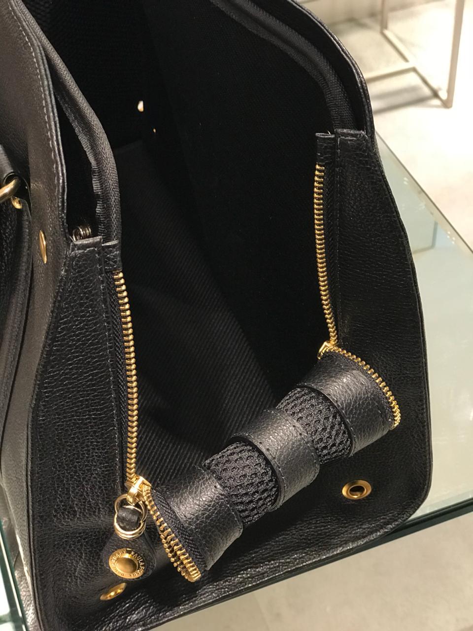 Pet Bag Paula Frank Preta Média