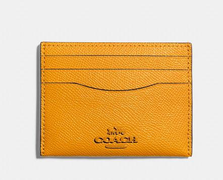 Porta Cartão Flat Card Case Amarelo