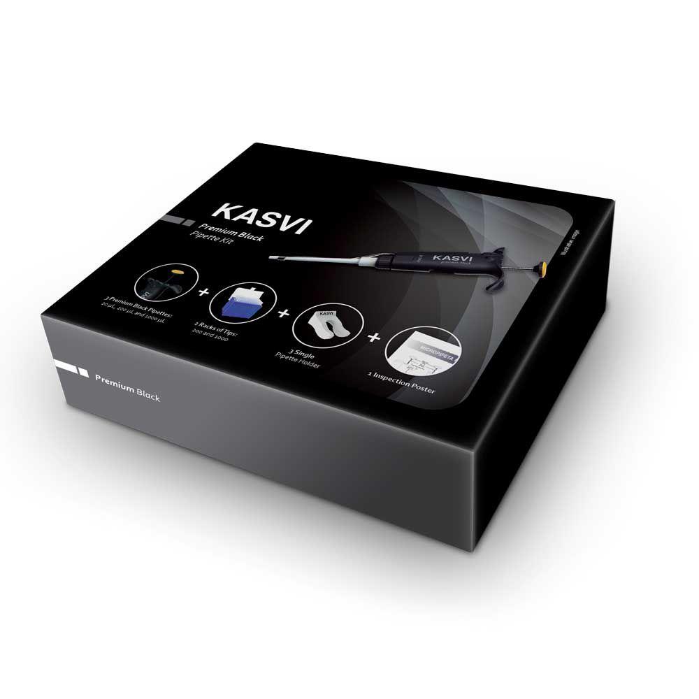 Kit De Micropipetas Kasvi Premium Black