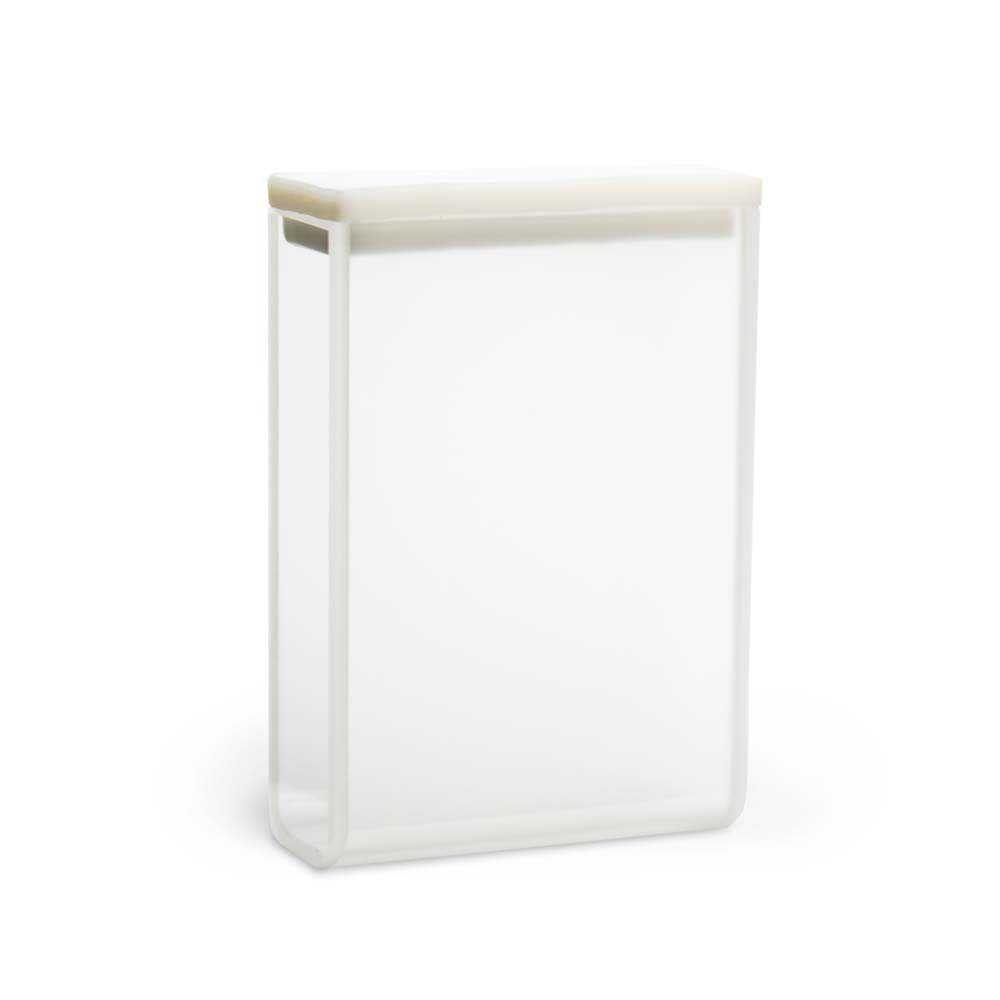 Cubeta Em Quartzo Es 2 Faces Polidas Passo 30 Mm Volume 10,5 Ml
