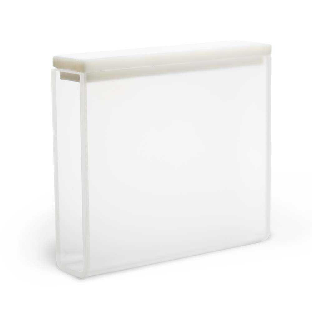 Cubeta Em Quartzo Es 2 Faces Polidas Passo 50 Mm Volume 17,5 Ml