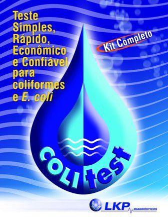 KIT COLITEST 10 TESTES - TESTE PARA DETECÇÃO DE COLIFORMES TOTAIS E E.COLI