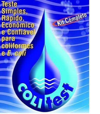 KIT COLITEST 50 TESTES - TESTE PARA DETECÇÃO DE COLIFORMES TOTAIS E E.COLI