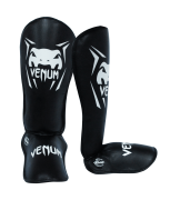 Caneleira Muay Thai Kickboxing Contender- M - Preto - Venum