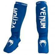 Caneleira Muay Thai Kickboxing Kontact Gel - Azul - Venum