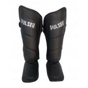 Caneleira Muay Thai MMA Kickboxing Tamanho Grande 40mm COURO - Pulser