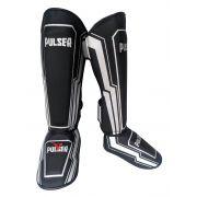 Caneleira Muay Thai MMA Preto Iron Grande 30mm - Pulser