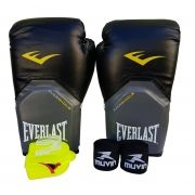 Kit de Boxe / Muay Thai 08oz - Preto - Pro Style - Everlast