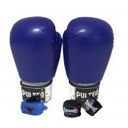 Kit de Boxe / Muay Thai 12oz - Azul - Pulser