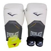 Kit de Boxe / Muay Thai 12oz - Branco - Pro Style - Everlast