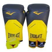Kit de Boxe / Muay Thai 12oz - Cinza com Amarelo - Pro Style - Everlast