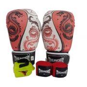 Kit de Boxe / Muay Thai 12oz - Dragão Vermelho - Thunder Fight