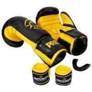Kit de Boxe / Muay Thai 12oz - Preto - First - Pretorian
