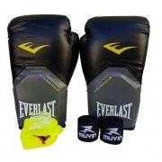 Kit de Boxe / Muay Thai 12oz - Preto - Pro Style - Everlast