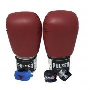 Kit de Boxe / Muay Thai 12oz - Vermelho - Pulser