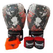 d64d9533b Kit de Boxe   Muay Thai 14oz - Dog - Thunder Fight