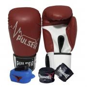 Kit de Boxe / Muay Thai 14oz - Vermelho Pulsar - Pulser