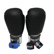 Kit de Boxe / Muay Thai 16oz - Preto  - Pulser
