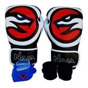 Kit De Boxe / Muay Thai 12oz - Preto - OPP - Naja