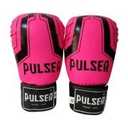 Kit Luva de Boxe / Muay Thai Feminino 12oz + Bandagem 3 Metros + Bucal Simples - Pulser
