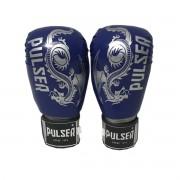 Luva de Boxe / Muay Thai 10oz - Dragão Azul Escuro - Pulser