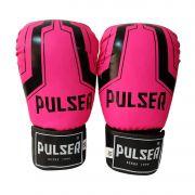 Luva de Boxe / Muay Thai 10oz Feminina - Rosa Iron - Pulser