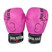 Luva de Boxe / Muay Thai 10oz Feminina - Rosa Vintage Coração - Pulser