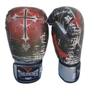 Luva de Boxe / Muay Thai 12oz - Caveira / Cruz - Thunder Fight