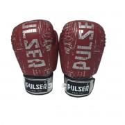 Luva de Boxe / Muay Thai 12oz - Vermelho Riscado - Pulser