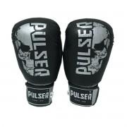 Luva de Boxe / Muay Thai 14oz - Caveira Preto - Pulser