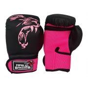 7cf6c545d luvas luva de boxe muay thai 14oz feminina preto com rosa mma brazuka