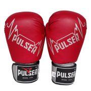 Luva de Boxe / Muay Thai 14oz - Vermelho Pulser Logo - Pulser