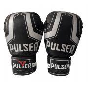 Luva de Boxe / Muay Thai 16oz - Preto Iron - Pulser